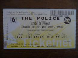 Ticket de Concert THE POLICE Stade de France 2007