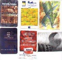 11-1058. Calendarios Publicitarios, Año 2000. 6 Diferentes - Calendarios