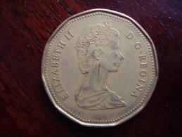 CANADA 1989 ONE DOLLAR Aureate-bronze Plated Nickel USED. - Canada