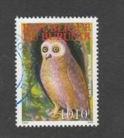 9] 1 Timbre Oblitéré Circulé Circulated Cancelled Stamp Burundi Rapace Bird Of Prey Hibou Owl - Burundi
