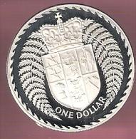NIEUW ZEELAND 1 DOLLAR 1979 ZILVER PROOF CROWNED SHIELD - Nouvelle-Zélande