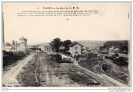 FISMES LA GARE DU CBR (LOT U14) - Gares - Avec Trains