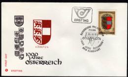ÖSTERREICH 1976 - Wappen Bundesland Kärnten - FDC - Briefe U. Dokumente