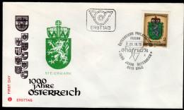 ÖSTERREICH 1976 - Wappen Bundesland Steiermark - FDC - Briefe U. Dokumente