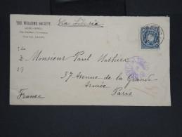 JAPON-Enveloppe De Toyo Pour Paris En 1909 Via Sibérie à Voir P7244 - Covers & Documents