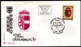 ÖSTERREICH 1976 - Wappen Bundesland Salzburg - FDC - Briefe U. Dokumente
