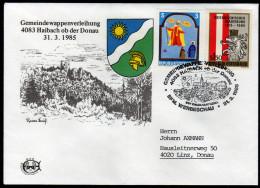 ÖSTERREICH 1985 - Wappen / Gemeindewappenverleihung 4083 Haibach Ob Der Donau - Sonderstempel - Briefe U. Dokumente