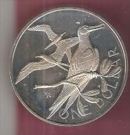 BR.VIRGIN ISLANDS 1 DOLLAR 1973 ZILVER PROOF BIRDS - British Virgin Islands