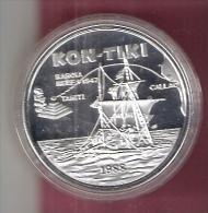 SAMOA 10  TALA 1988 ZILVER PROOF KON TIKI