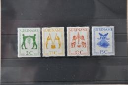 M 038 ++ SURINAME 1955 NVPH 317-320 HINGED/PLAK(REST) - Suriname ... - 1975