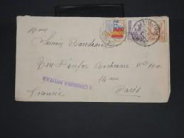 ESPAGNE-Enveloppe  De Gijon Pour Paris Avec Censure Militaire En 1937   à Voir P7250 - Marcas De Censura Nacional