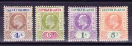 Cayman Islands 1907 SG.#13-16 * Falz Kpl. Serie - Cayman Islands