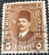 Egypt 1927 King Fuad 5m - Used - Used Stamps