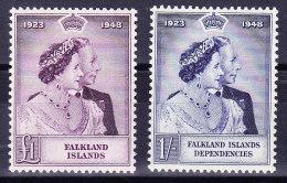 Falkland Inseln 1948 SG.# 167 ** + Marke Dependencies Dabei - Falkland
