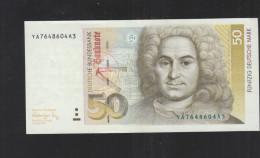 BRD 50 Deutsche Mark 1991 Kratzer Im Rechten Auge XF - 50 Deutsche Mark