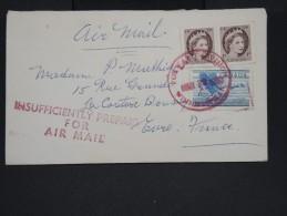 CANADA-Enveloppe De Winnipeg Pour La France En 1959 Avec Insufisance D 'affranchissement   à Voir P7258