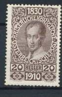 #15-05-00670 - Austria - 1910 - SG 230 - MH - QUALITY:100%