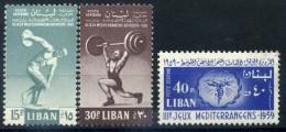 1959 LIBANO SERIE COMPLETA LINGUELLATA* - Libano