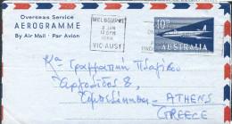 AUSTRALIA - 1964 10d Aerogramme To Greece. - Aerogrammes