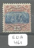 EUA Scott 118 Type I Very Good  Black And Blue Town Cancels YT 35a # - Used Stamps