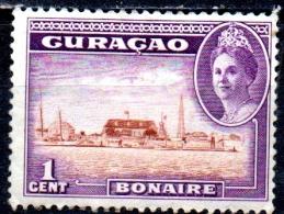 CURACAO 1942 Bonaire - 1c  - Brown And Violet MH - Curaçao, Nederlandse Antillen, Aruba