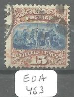 EUA Scott 118 Type I Red Very Good, Cancel Paid, 2 Black Cancels  YT 35a # - Used Stamps