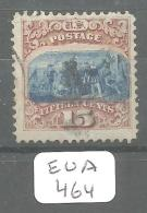 EUA Scott 118 Type I Very Fine Black Town Cancel  Moved Center Signed YT 35a # - Used Stamps