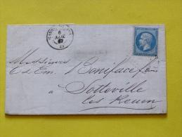 ENVELOPPE  6 NOVEMBRE 1867.  20 C EMPIRE FRANC. - Marcophilie (Lettres)