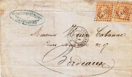 LAC Affr Y&T 21 X 2 Obl 5023 + TàD CONSTANTINE Du 1.12.68 Adressée à Bordeaux - 1849-1876: Période Classique