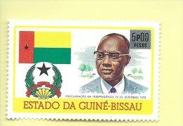 TIMBRES- STAMPS - GUINÉE-BISSAU / GUINEA-BISSAU -1976- PROCLAMATION DE L´INDEPENDANCE -TIMBRE CLÔTURE DE SERIE OBLITÉRÉ - Guinea-Bissau