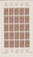 Europa Cept 1966 Andorra Fr 1v  Sheetlet Of 25v (unfolded) ** Mnh (LT609) - Europa-CEPT