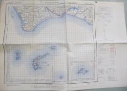 Carte G.S.G.S. (War Office) : TERRACINA (Italie) - 1 / 100 000ème - 1943. - Topographical Maps
