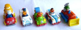 SESAME STREET - JIM HENSON 5 Voitures (lot1) Avec FIGURINE PLAYSKOOL INC MUPPETS INC Figurines - Figurines