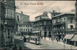 ! Alte Ansichtskarte Vigo, Puerta Del Sol, Straßenbahn, Tramway, Spanien, Spain, Galicia - Pontevedra