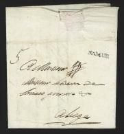 """Pr�philat�lie - lettre dat�e marque NAMUR """"NB"""" + """"5"""" pour Li�ge (recommand�)"""