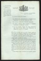 """Lettre en imprim� de Paris An 7 """"Bureau des Cong�s"""" adress�e � Seraing (concernant les g�n�raux, la gendarmerie, &hel..."""