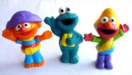 SESAME STREET - JIM HENSON 3 Figurines MACARON ERNIE ET GROBI FIGURINE MUPPETS INC Figurine - Figurines
