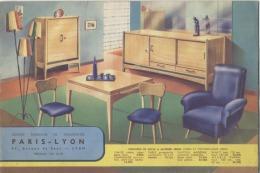 69 -   LYON  -  DOCUMENT PUBLICITAIRE  -  MEUBLES  -  Grands Magasins De Nouveautés  -  Années 1930 - 1950 - Elektrizität & Gas