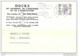 PERUWELZ ..-- Carte Commande Quincaillerie DOCKS Du BATIMENT . 1976 . - Péruwelz