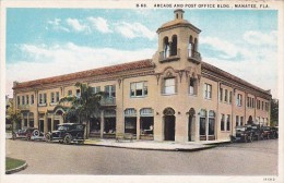 Arcade And Post Office Building Manatee Florida Curteich - Postal Services