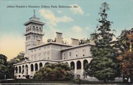 BALTIMORE, Maryland, 1900-1910's; Johns Hopkin's Mansion, Clifton Park - Baltimore