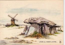 Dolmen Dolmens..Menhirs..Mégalithes Pierres Rochers St-Lyphar Dolmen De Kerbour Moulin à Vent - Dolmen & Menhirs