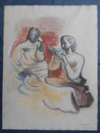 Louis R DELEAGE Affichiste (1902-1945) Pastel 47cm X 63cm Etude Pour Une Affiche - Pastels