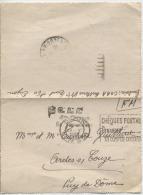 CARTE LETTRE  - DIJON   Pour  ARDES SUR COUZE    - 1940 -  C.O.A.A . 4ème Groupe - Marcofilie (Brieven)