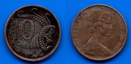 Australie 10 Cents 1969 Cent Dollars Que Prix + Port Reine Animal  Australia Skrill Paypal Bitcoin OK - Monnaie Décimale (1966-...)