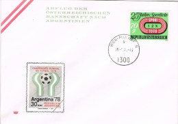 13516. Carta WIEN (Austria) 1978. Mundial Futbol Argentina - Copa Mundial