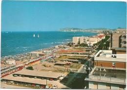 M3199 Misano Mare (Rimini) - Panorama Con Lungomare E Spiaggia - Beach Plage Strand Playa / Viaggiata 1973 - Italie