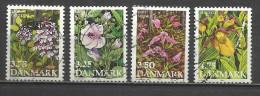 6022 -SELLOS DINAMARCA SERIE COMPLETA FLORES ,FLORA 984/7  VALOR 4,75€ YVERT. ****************************************** - Dinamarca