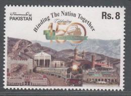 PAKISTAN, 2011, Pakistan  Railways, Binding The Nation Together, Railway, Train,, 1v, ,, MNH(**) - Treni