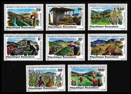 RWANDA 1981 - Agriculture, Protection De L'invironement Et Des Sols - 8 Val Neuf // Mnh - Rwanda